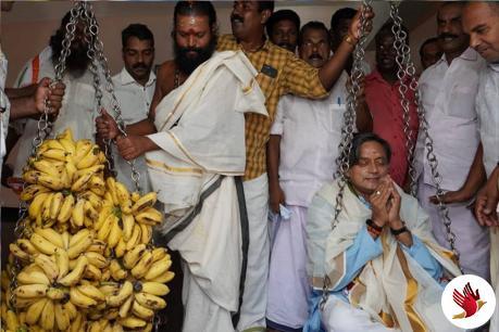 મંદિરમાં પૂજા દરમિયાન ઘાયલ થયા શશિ થરૂર, માથામાં આવ્યા 8 ટાંકા