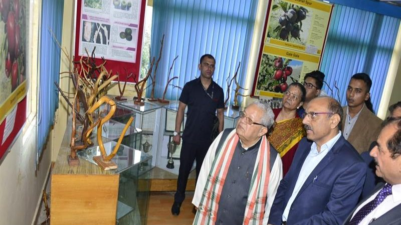 Governor visits Regional Horticulture Research and Training Station Mashobra