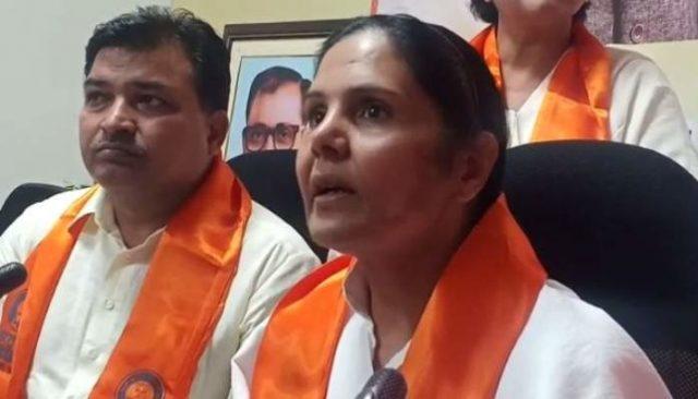 हरियाणा कांग्रेस को बड़ा झटका, महिला कांग्रेस अध्यक्ष सुमित्रा भाजपा में शामिल