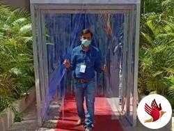 રાજકોટ મનપામાં ગુજરાતનું પ્રથમ કોરોના કિલર વોક થ્રુ માસ ડિસઇન્ફેક્ટ મશીન મુકાયું